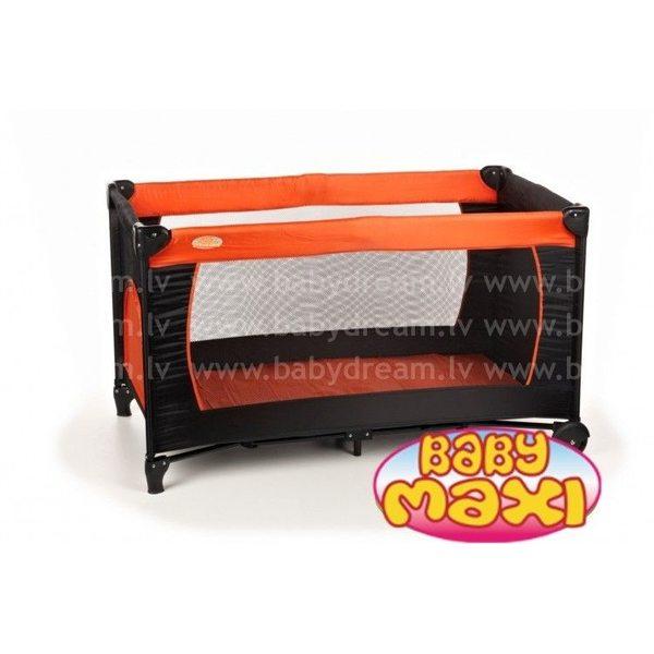 Baby Maxi Basic M2 Orange Ceļojumu gulta