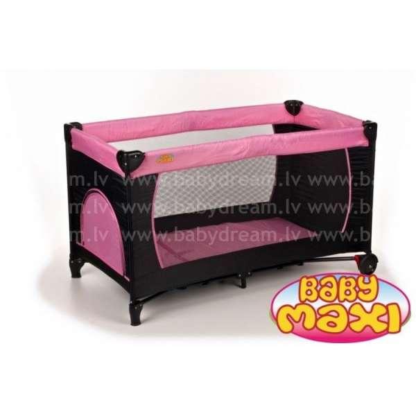 Baby Maxi Basic M2 Pink Ceļojumu gulta