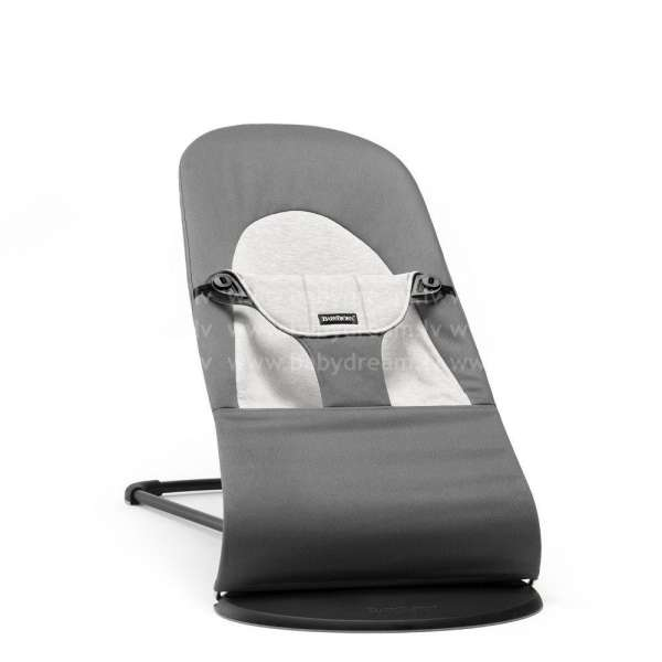 BabyBjorn Bouncer Balance Soft Bērnu šūpuļkrēsls, Dark grey/Grey, Cotton/Jersey