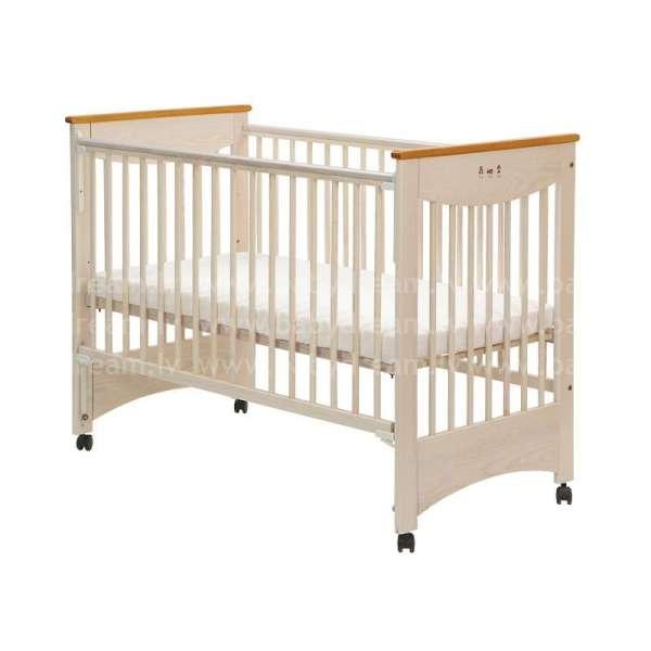 Drewex Laura Bērnu gulta, balināta, ar nolaižamu sānu