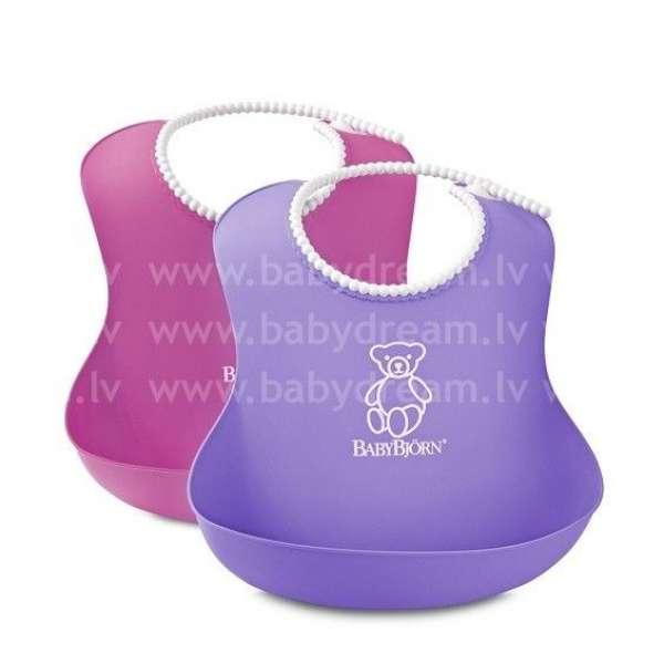 BabyBjorn Mīksts priekšautiņš Soft Bib Pink/Purple 2gb.