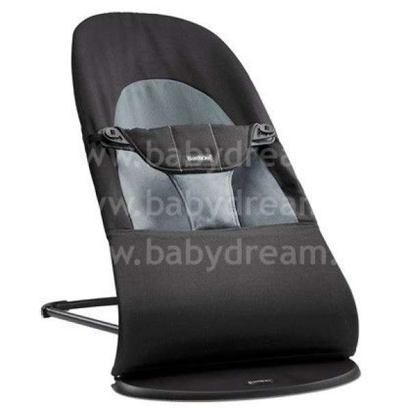 BabyBjorn Bouncer Balance Soft Bērnu šūpuļkrēsls, Black/Dark gray Cotton