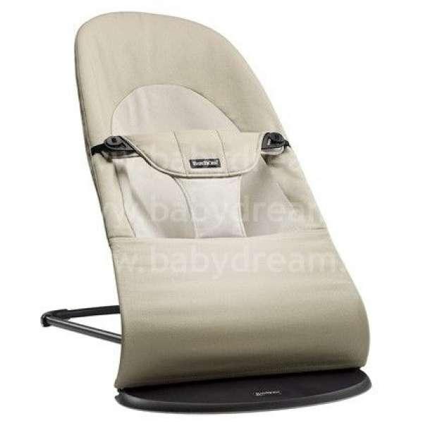 BabyBjorn Bouncer Balance Soft Bērnu šūpuļkrēsls, Khaki/Beige Cotton