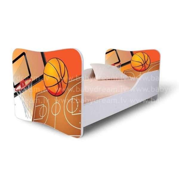 Nobiko Bērnu gulta ar matraci Basketbols 164x84 cm + veļas kaste