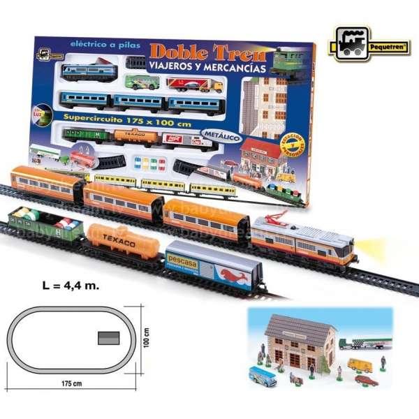 Pequetren Double Train Passengers / Merchandises Dzelzceļa komplekts, 900