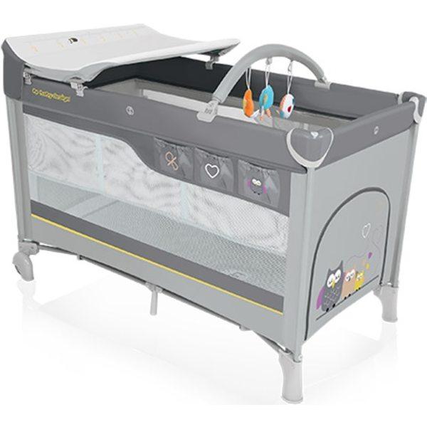 Baby Design Dream 07 Gray Ceļojumu gultiņa