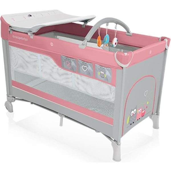 Baby Design Dream 08 Pink Ceļojumu gultiņa