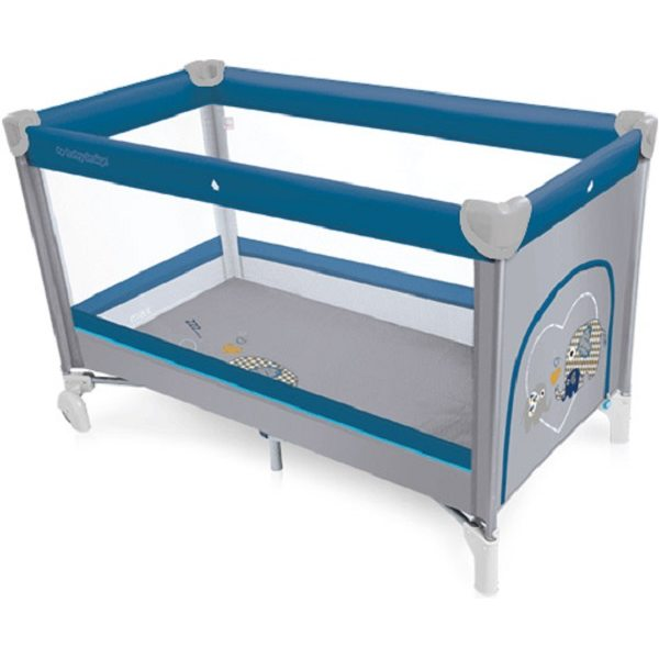 Baby Design Simple 03 Blue Ceļojumu gultiņa