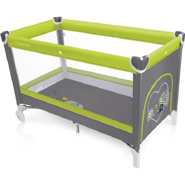 Baby Design Simple 04 Green Ceļojumu gultiņa