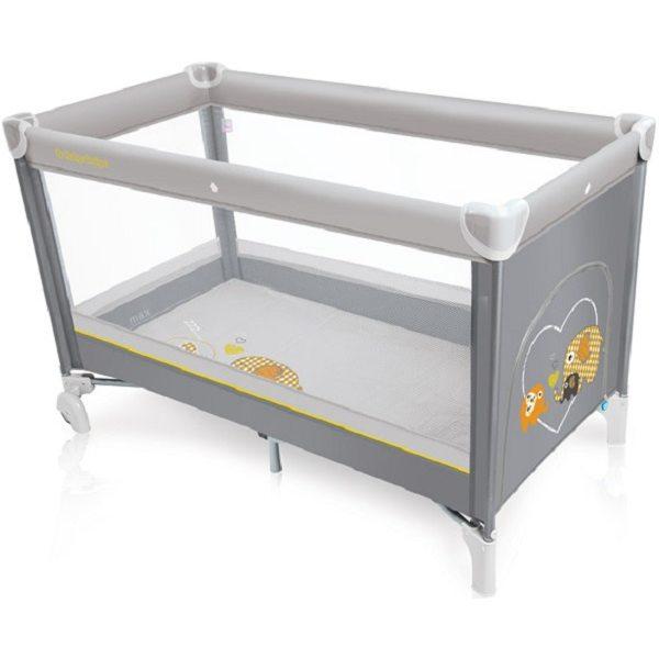 Baby Design Simple 07 Gray Ceļojumu gultiņa
